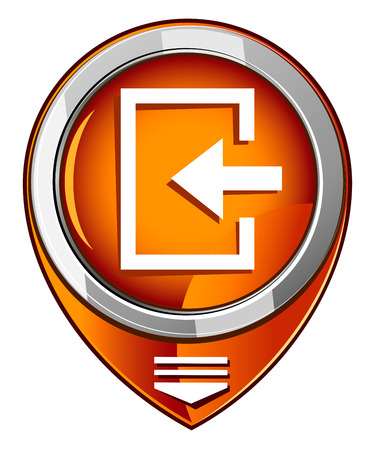 loging: Enter- orange pointer