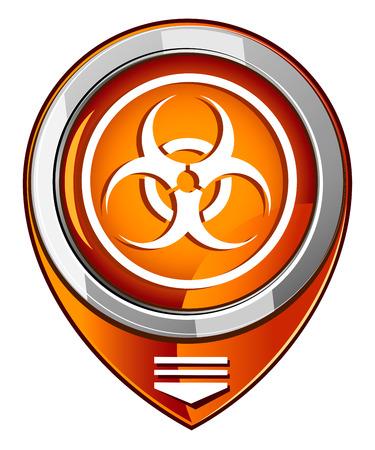 Warning symbol biohazard orange pointer Stock Vector - 26912450