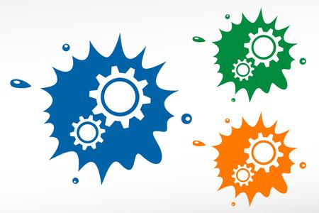 rackwheel: Gear - color blob Illustration
