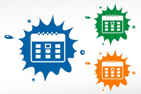 Calendar organizer - color blob Vector