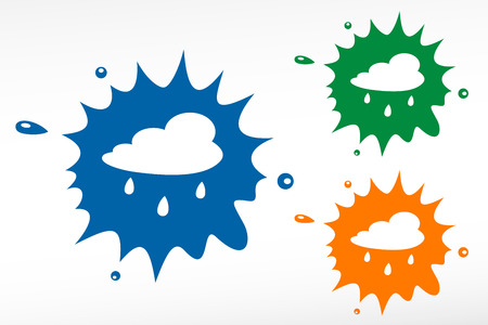 hailstorm: Rain cloud - color blob Illustration