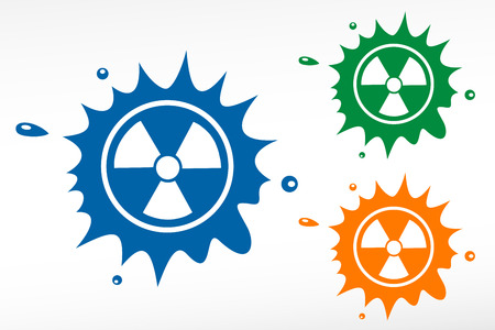 barrel radioactive waste: Radioactive vector color blob