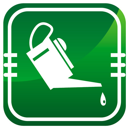 oiler: Oiler - green icon. Vector illustration.