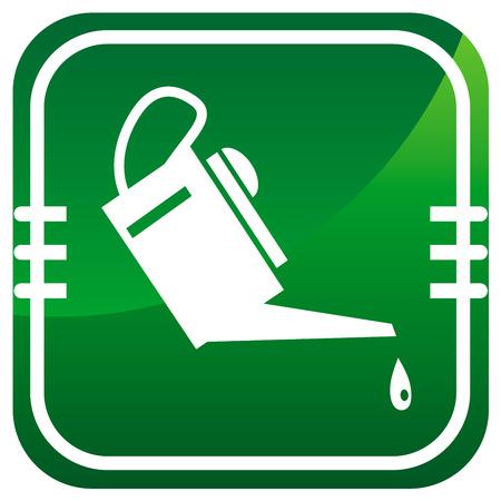 emulsifier: Oiler - green icon. Vector illustration.