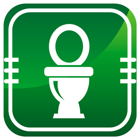 Toilet symbol, vector icon