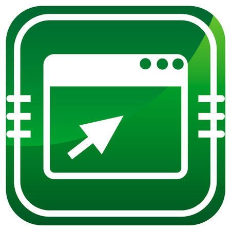 Vector browser green icon Vector