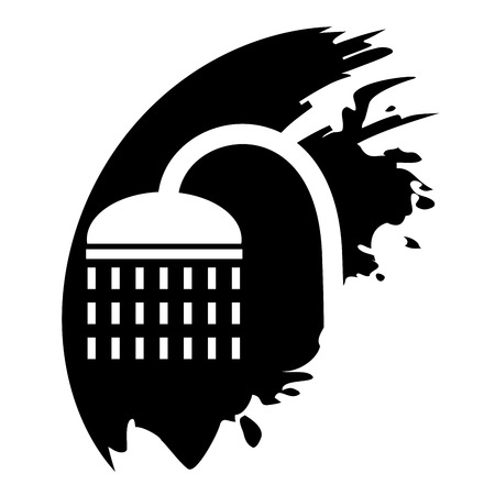 rinse: Shower icon. Vector illustration.