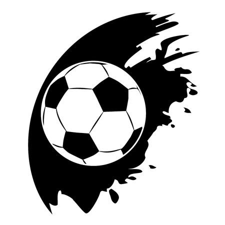 Vector football ball on black blob Vector