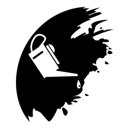 emulsifier: Oiler - black blob. Vector illustration.