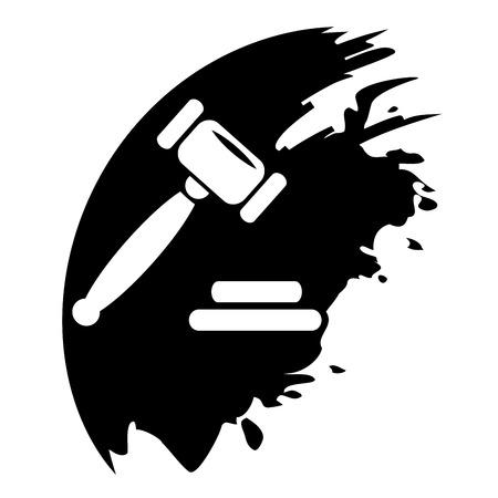 Veiling hamer zwarte vlek Stockfoto - 27498145