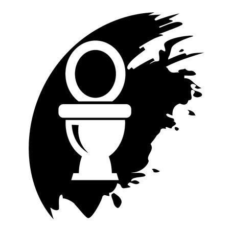 Toilet symbol, vector icon. Black blot