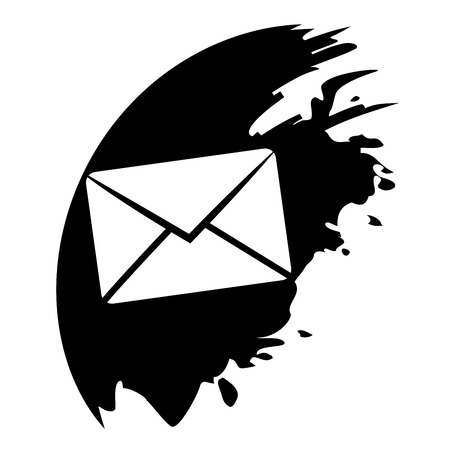 Send email symbol, black blot Vector