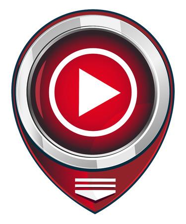 player controls: Reproductor de botones en el mapa rojo puntero