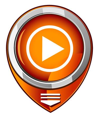 player controls: Botones del jugador de puntero mapa naranja