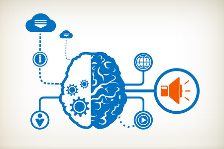 Speaker and abstract human brain, the concept of the information movement Vector