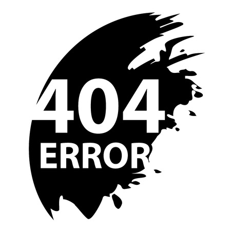 404 error. Page not found. Blotch icon
