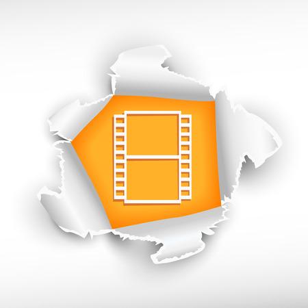 roztrhaný: Film a průlom papíru díry s otrhané okraje