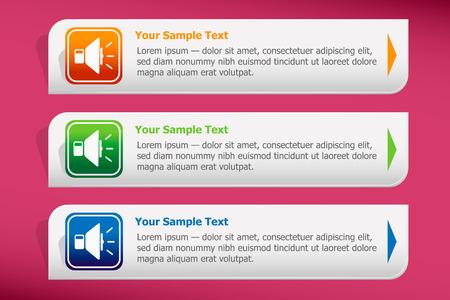 Speaker and design template vector. Graphic or website. Vector