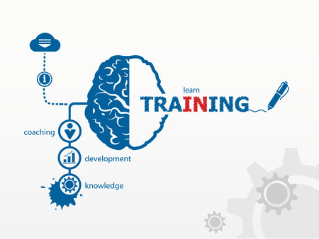 Vector training. Business vector concept for presentations and reports