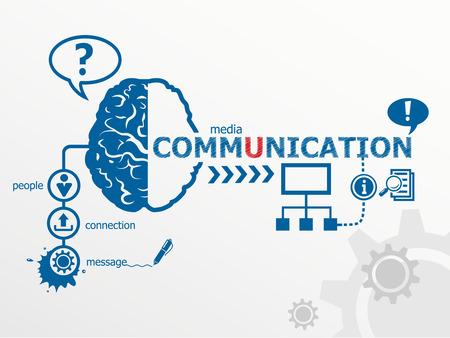 통신 개념 및 소셜 미디어 아트. 전세계 통신