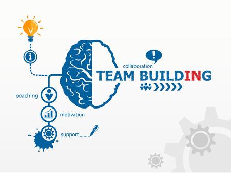 mision: Team Building Gr�fico concepto Vectores