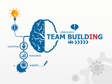 business words: Team Building Graph concept
