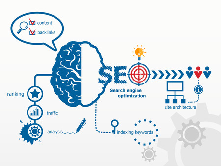 internet search: Search engine optimization. SEO Internet concept