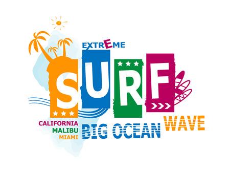 malibu: California, malibu, miami surf illustration, vectors, t-shirt graphics Illustration