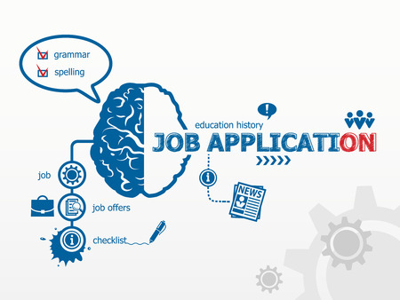 weaken: Job application concept