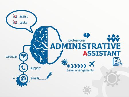 Auxiliar administrativo concepto de negocio.
