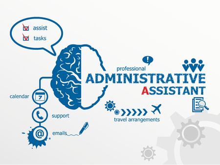 personal data assistant: Administrative assistant business concept.