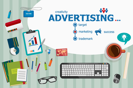 project: Advertising and flat design illustration concepts for business analysis, planning, consulting, team work, project management. Advertising concepts for web banner and printed materials. Illustration