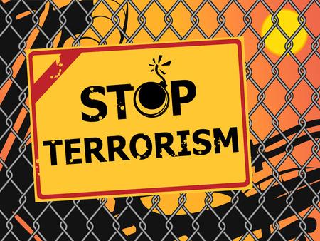 Stop terrorism. No Terror Concept
