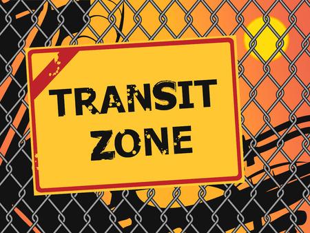 illegal zone: Transit zone. Migration Concept Illustration