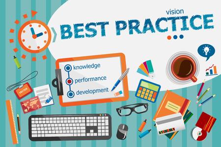 Best practice concept. Typografische poster. Best practice concepten voor web banner en drukwerk. Stockfoto - 51617633
