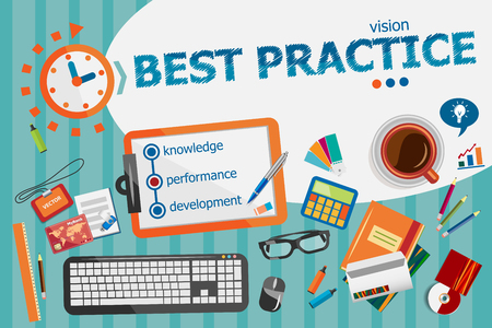 Best practice concept. Typographic poster. Best practice concepts for web banner and printed materials.