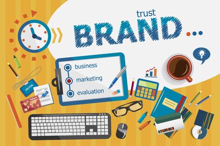 Branding concepto de diseño. cartel tipográfico. conceptos de marca para la bandera web y materiales impresos. Ilustración de vector