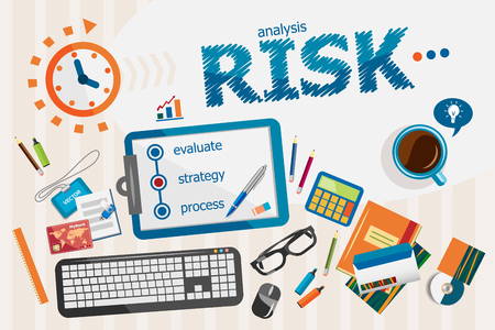 Risk concept. Typographic poster. Risk concepts for web banner and printed materials.