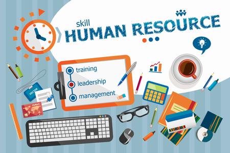 Human resource design concept. Typografische poster. Human resource concepten voor web banner en drukwerk. Stockfoto - 52180446