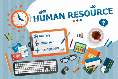govern: Human resource design concept. Typographic poster. Human resource concepts for web banner and printed materials.