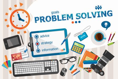 problemsolving: Problem-solving design concept. Typographic poster. Problem-solving concepts for web banner and printed materials.