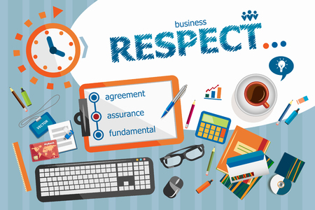 respectable: Respect design concept. Typographic poster. Respect concepts for web banner and printed materials.