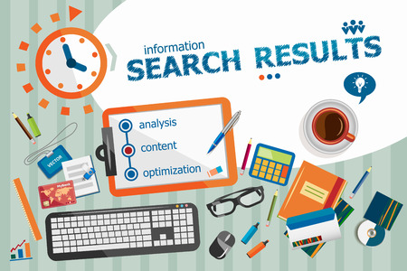 search results: Search results design concept. Typographic poster. Search results concepts for web and printed materials.