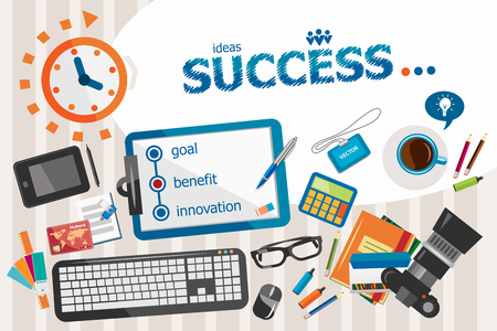 success concept: Success design concept. Typographic poster. Success concepts for web and printed materials.