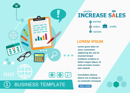 increase sales: Increase sales design concepts of words learning and training. Increase sales flat design banners for website and mobile website, easy to use and highly customizable.