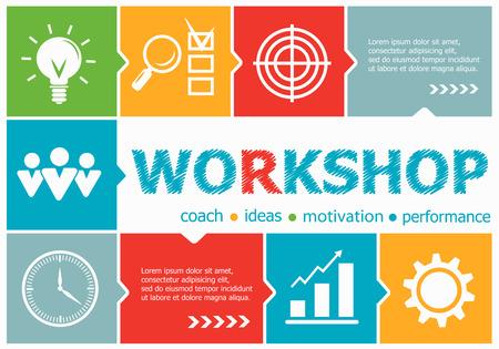career management: Workshop design illustration concepts for business, consulting, management, career. Workshop concepts for web banner and printed materials. Illustration