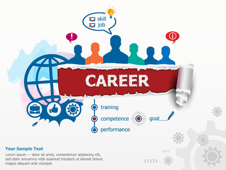 career management: Career concept and group of people. Set of flat design illustration concepts for business, consulting, finance, management, career, human resources.