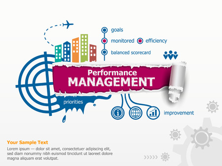 Performance management and breakthrough paper hole with ragged edges. Фото со стока - 63734141