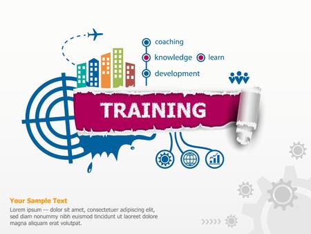 training en baanbrekende document gat met rafelige randen. Communicatie in de wereldwijde computernetwerken