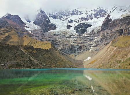 salkantay: Humantay glaciers lake in Soraypampa, Peru, During the Salkantay Trek